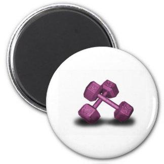 Pink Dumbbells Merchandise Fridge Magnets