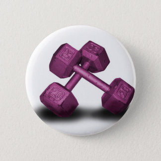 Pink Dumbbells Merchandise Pinback Button