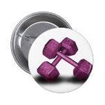 Pink Dumbbells Merchandise Pinback Button