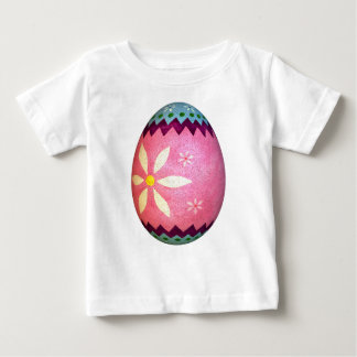 Pink Dyed Daisy Easter Egg Baby T-Shirt