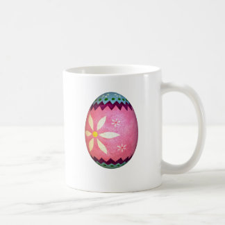 Pink Dyed Daisy Easter Egg Coffee Mug