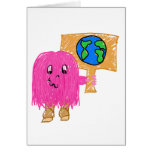 Pink Earth Greeting Card