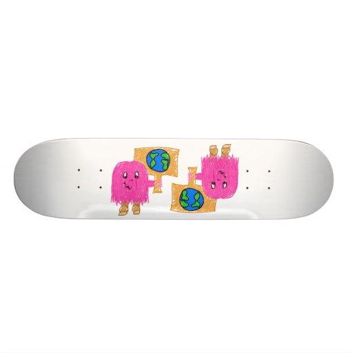 Pink Earth Skate Board Deck