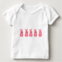 Pink Easter Bunnies Baby T-Shirt