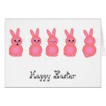 Pink Easter Bunnies Card