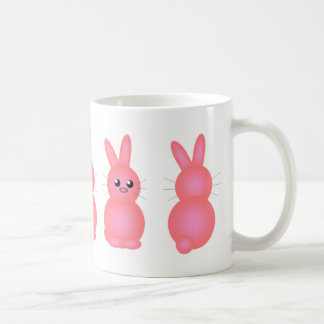 Pink Easter Bunnies Classic White Coffee Mug