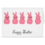 Pink Easter Bunnies Greeting Card