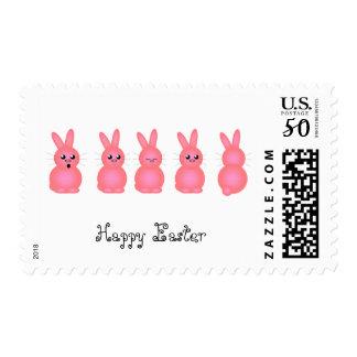 Pink Easter Bunnies Postage