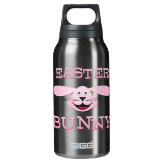 Pink Easter Bunny Insulated Water Bottle