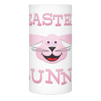 Pink Easter Bunny LED Candle