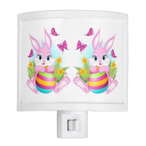 Pink Easter Bunny Night Light