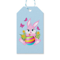 Pink Easter Bunny Pack Of Gift Tags