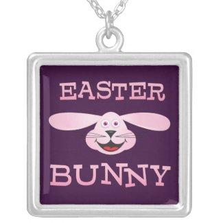 Pink Easter Bunny Pendants