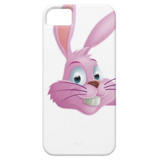 Pink Easter bunny rabbit top pointing iPhone 5 Case