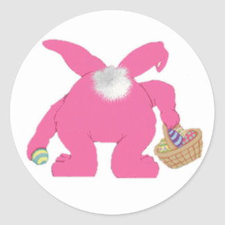 Pink Easter Bunny - Sticker