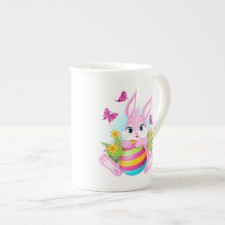 Pink Easter Bunny Tea Cup