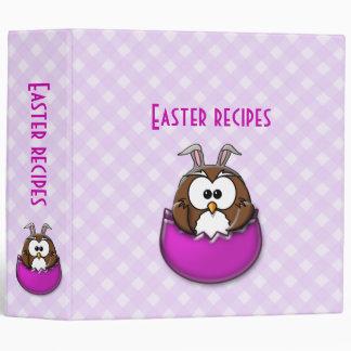 pink Easter owl - binder