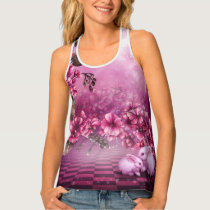 Pink Easter Rabbits All-Over Print Tank Top