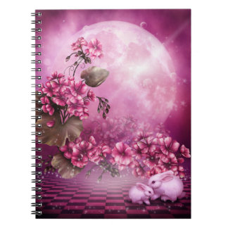 Pink Easter Rabbits Notebook