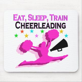PINK EAT SLEEP TRAIN CHEERLEADING MOUSE PAD