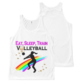 PINK EAT, SLEEP, TRAIN VOLLEYBALL All-Over-Print TANK TOP