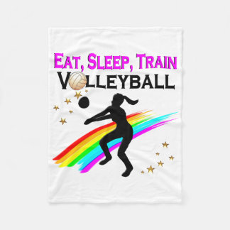 PINK EAT, SLEEP, TRAIN VOLLEYBALL FLEECE BLANKET
