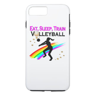 PINK EAT, SLEEP, TRAIN VOLLEYBALL iPhone 8 PLUS/7 PLUS CASE