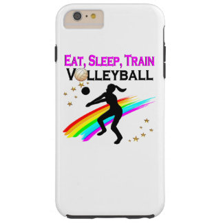 PINK EAT, SLEEP, TRAIN VOLLEYBALL TOUGH iPhone 6 PLUS CASE