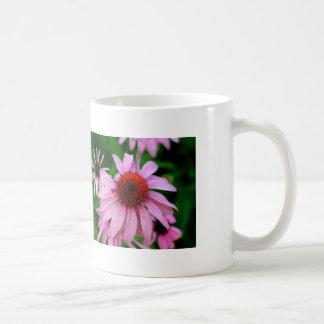 pink echinacea mug