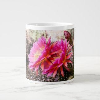 Pink Echinopsis Cactus in Bloom - Jumbo Mug