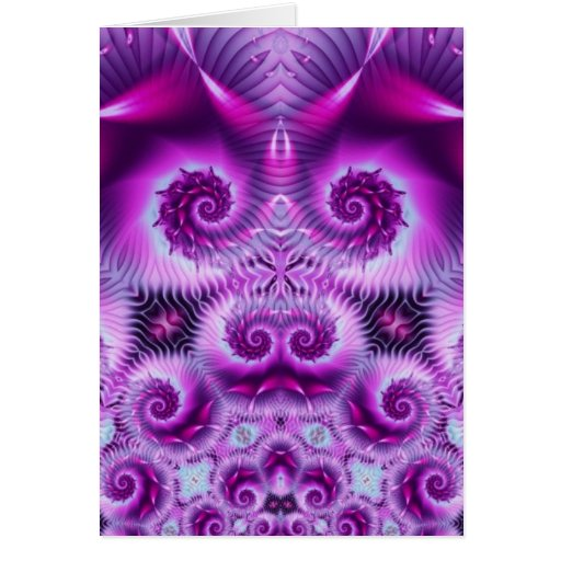 Pink Ecstasy Abstract Fractal Greeting Card