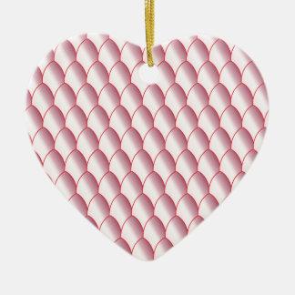 Pink Eggshell Background Ceramic Ornament
