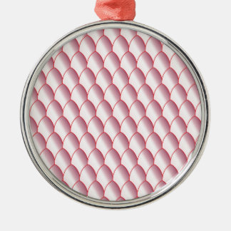 Pink Eggshell Background Metal Ornament