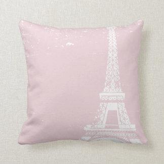 Pink Eiffel Tower Custom Cotton Pillows