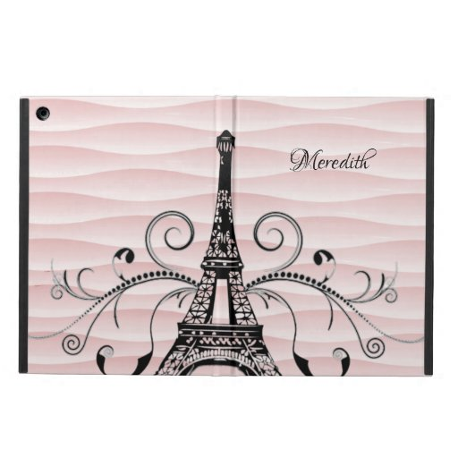 Pink Eiffel Tower Flourish Case For iPad Air