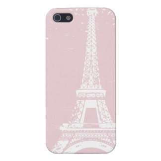 Pink Eiffel Tower iPhone 5 Case Savvy Finish Case