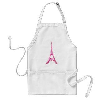 Pink Eiffel Tower splatter painted Paris Adult Apron