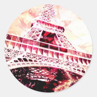 Pink Eiffel Tower Sticker