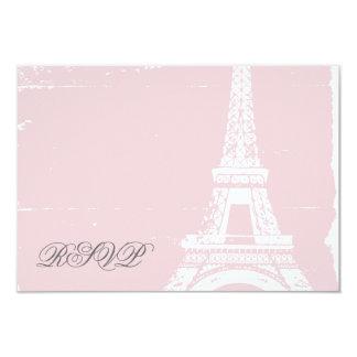 Pink Eiffel Tower Wedding RSVP Cards