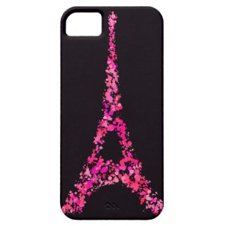 Pink Eiffel Tower with paint iPhone SE/5/5s Case
