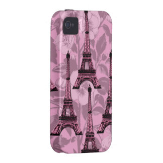 Pink Eiffel Towers iPhone 4/4S Tough Cover iPhone 4 Cases