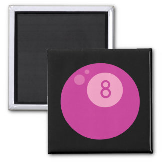 Pink Eightball 2 Inch Square Magnet