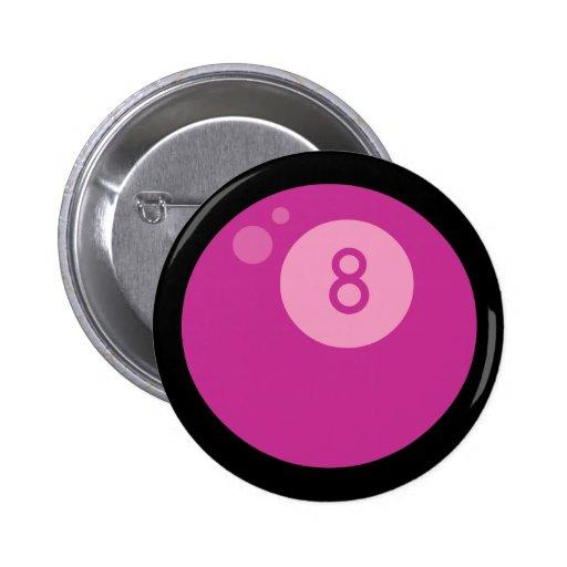 Pink Eightball Buttons