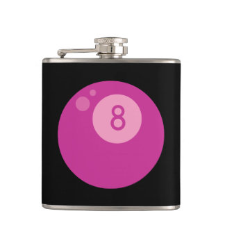 Pink Eightball Flasks