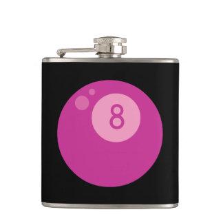 Pink Eightball Hip Flask