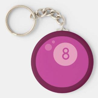 Pink Eightball Keychain