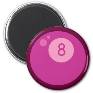 Pink Eightball 2 Inch Round Magnet