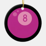 Pink Eightball Ornament