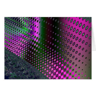 pink electric greeting card