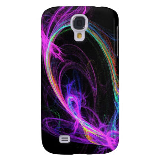 Pink Electric Fractal Galaxy S4 Covers